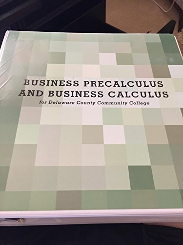 9781256634744: Business Precalculus and Business Calculus