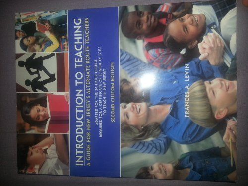 9781256655145: Introduction to Teaching: A Guide for New Jersey's Alternate Route Teachers [...
