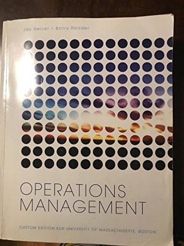 9781256672142: Operations Management Custom Edition for University of Massachusetts Boston [...