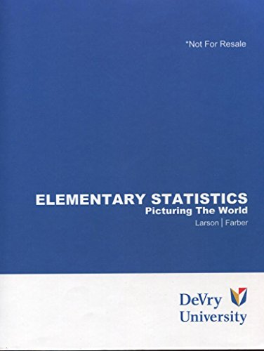 9781256677451: Elementary Statistics: Picturing the World