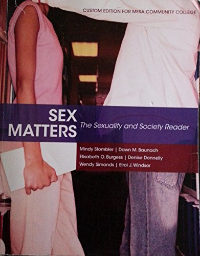 9781256693796: Sex Matters:sexuality+society