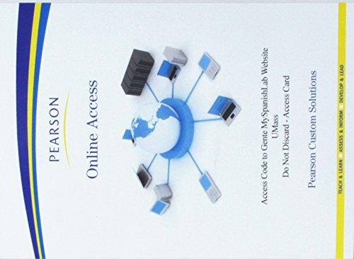 9781256704881: MySpanishLab for Gente for University of Massachusetts Amherst --Valuepack Card (2nd Edition)