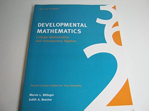 9781256706021: Developmental Mathematics