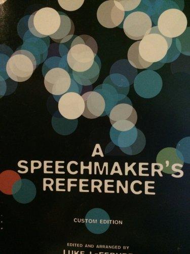 A Speechmaker's Reference