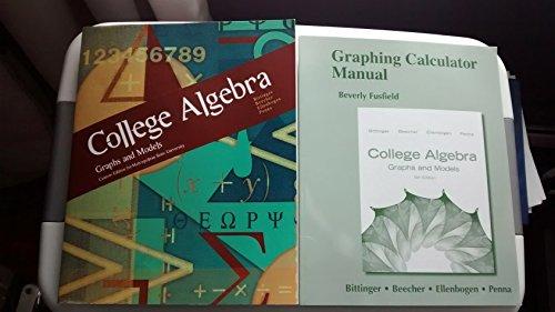9781256718789: College Algebra: Graphs and Models Custom Edition for Metropolitan State University