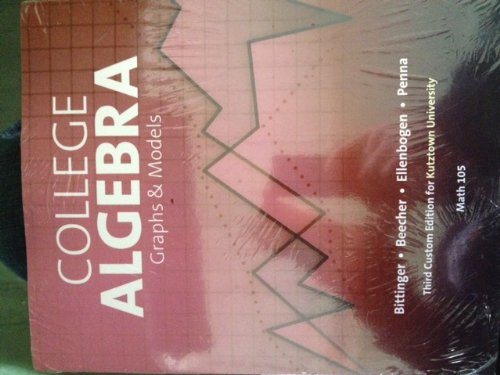 9781256719441: College Algebra Graphs and Models (Math 105)