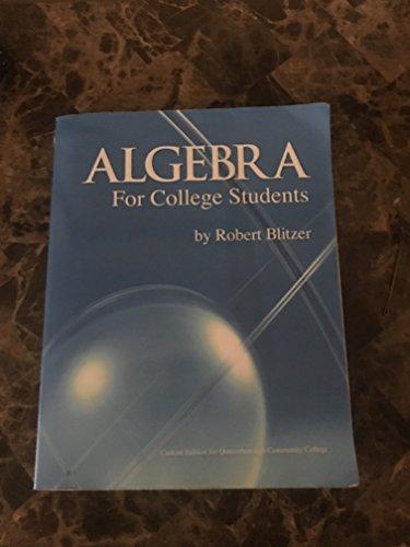 9781256720010: Algebra for College Students Queensborough Editon