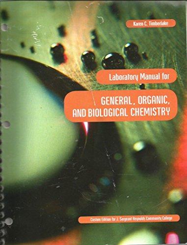 9781256724261: Lab Manual for J.Sargeant Reynolds Chemistry 101