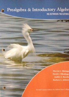9781256727705: Prealgebra & Introductory algebra MAT0018/MAT0028