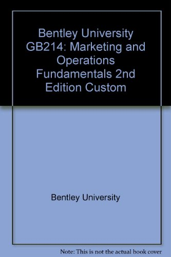 9781256733713: Marketing and Operations Fundamentals - Second Custom Edition for Bentley University