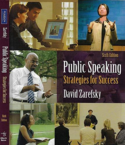 9781256733928: Public Speaking Strategies for Success