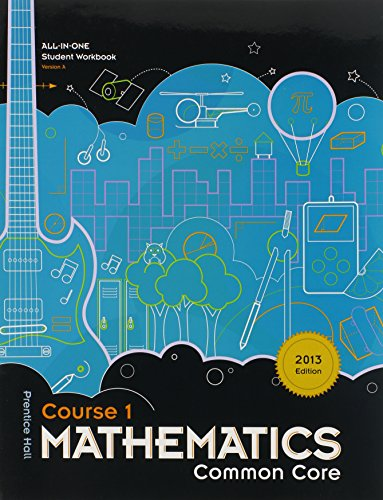 9781256737216: Mathematics Common Core, Course 1, All-in-one Student Workbook Version A