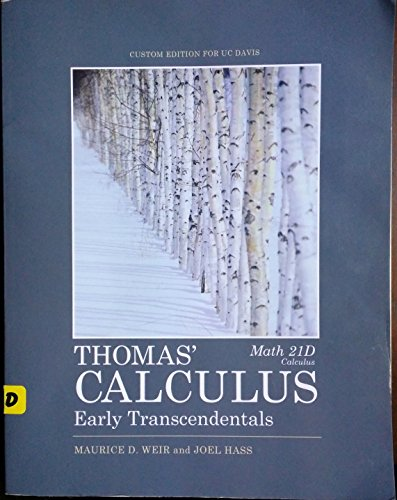9781256739364: Thomas' Calculus Early Transcendentals Math 21D Calculus
