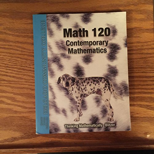 9781256757047: Math 120 - Contemporary Mathematics