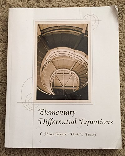9781256762058: Elementary Differential Equations
