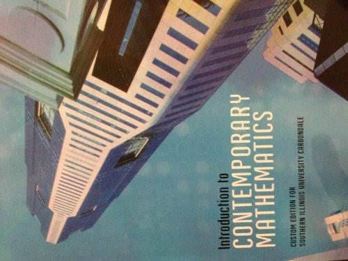 Introduction to Contemporary Mathematics Custom Edition for: Peter Tannenbaum, Robert