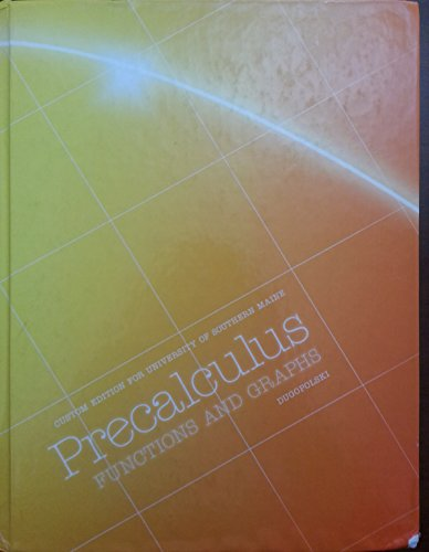 9781256769972: Precalculus Functions and Graphs University of Southern Maine Custom Edition