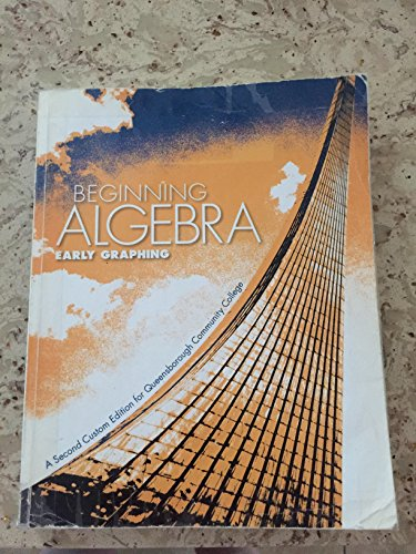 9781256772156: Beginning Algebra Early Graphing a Second Edition for Queens Borough Community College