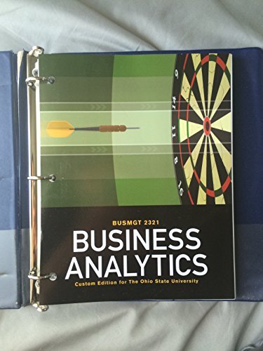 9781256776178: Business Analytics, BUSMGT 2321, The Ohio State University