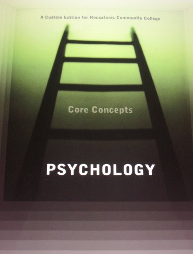 9781256778042: Psychology : Core Concept, a Custom Edition for Housatonic Community College (A custom edition for Housatonic Community College)