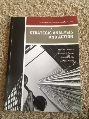 Strategic Analysis and Action: Crossan