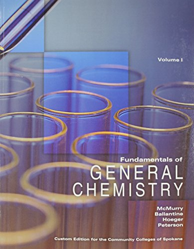 9781256785088: Fundamentals of General Chemistry Volume I (4th Edition)