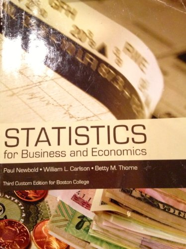 9781256786023: Statistics for Business and Economics (Third Custom Edition for Boston College)