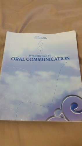 9781256787822: Introduction to Oral Communication: Custom Edition for Iona College