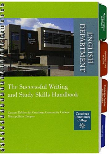 9781256791614: Successful Writing and Study Skills Handbook, Cuyahoga Community College 2012-2013 Edition