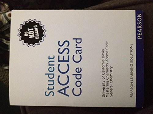 9781256793571: University of California Davis Mastering Chemistry Access Code with General Chemistry E-book