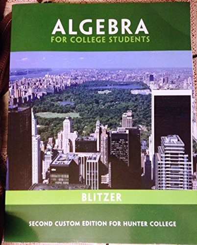 9781256794936: Algebra for College Students Custom Package- Hunter College (With Access Card)) (Algebra for College Students)