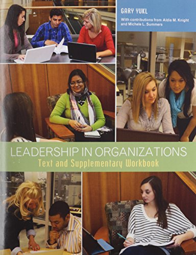 9781256796435: Leadership in Organizations Purdue University (3rd Edition)
