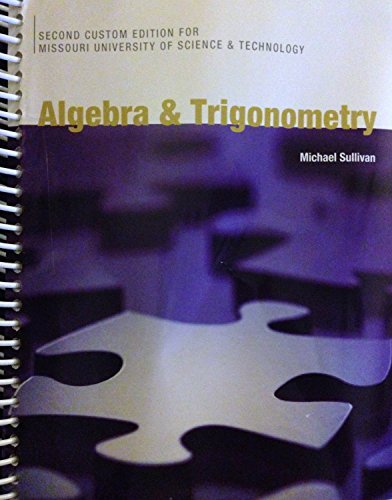9781256797289: Algebra & Trigonometry (2nd Custom Edition for Missouri S&T)