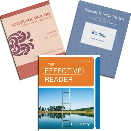 9781256798347: IRSC REA-0017 Package: The Effective Reader 3rd Edition - Active Vocabulary: General and Academic Words, Vol. II Custom - Thinking Through The Test: Reading, 4th Edition (Indian River State College)