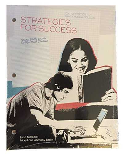 9781256806189: Strategies for Success: Study Skills for the College Math Student (Custom Edition for Santa Monica College)