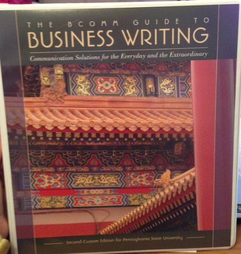 9781256806462: The Bcomm Guide to Business Writing