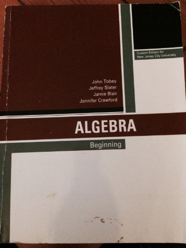 9781256808275: Beginning Algebra (Custom Edition by New Jersey City University)