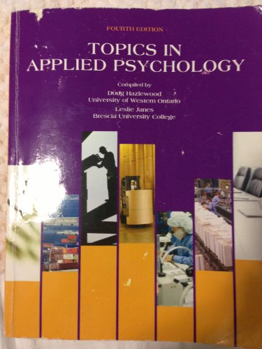 9781256809456: Topics in Applied Psychology