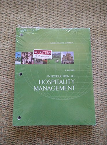 9781256809883: Introduction to Hospitality Management: FAU Edition (3rd Edition for Florida Atlantic University)