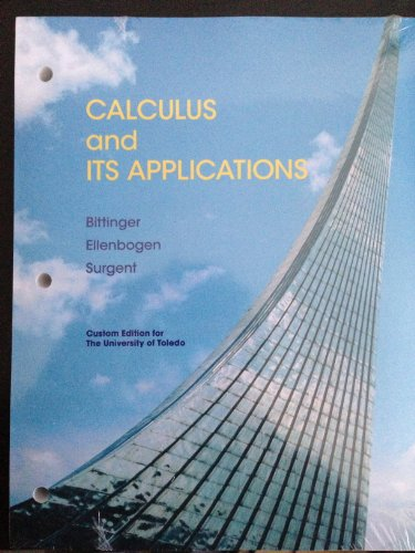 9781256817505: Calculus and Its Applications (University of Toledo)