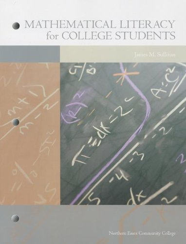 9781256817512: Mathematical Literacy for College Students