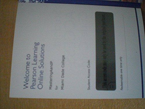 9781256817581: Student Access Code Card Miami Dade College Kendall Campus Edition