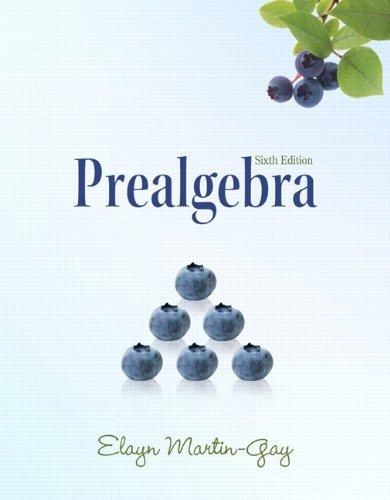 9781256820277: Prealgebra (6th Edition) (The Martin-Gay Paperback Series) by Elayn Martin-Gay (2010-01-13)