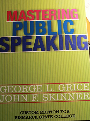 9781256821748: Mastering Public Speaking, Eighth Edition