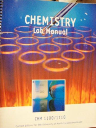 9781256821823: Chemistry Lab Manual (University of North Carolina Pembroke | CHM 1100/1110)