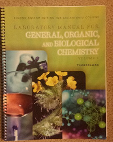 9781256823605: Laboratory Manual for General, Organic, and Biological Chemistry: Structures of Life Volume 1
