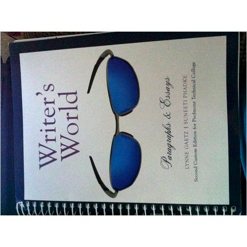 9781256825814: Writers World Paragraphs and Essays (2nd Edition Piedmont Technical College)