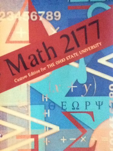 9781256826767: Math 2177 Custom Edition for The Ohio State University