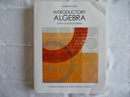 9781256830535: Introductory Algebra for College Students (Custom Edition for Santa Monica College)