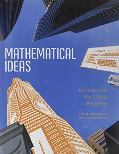 9781256831488: Mathematical ideas a second edition for Bergen Community College
